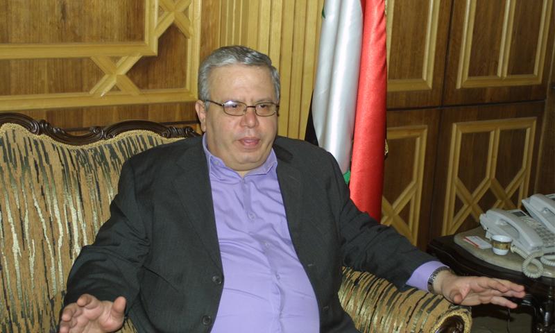 وزير العدل في حكومة النظام نجم الاحمد (سانا)