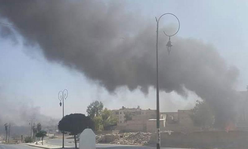 إحراق إطارات في الشمال السوري (ناشطون)