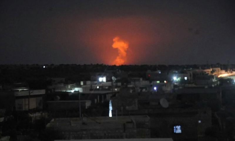 أهالي حلب شاهدوا انفجارات السفيرة من مسافات بعيدة- السبت 16 تموز (فيس بوك)