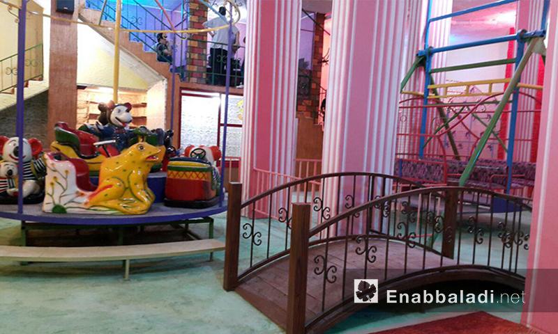 """مركز """"طيور الجنة"""" لألعاب العيد في دوما - الخميس 7 تموز (عنب بلدي)"""