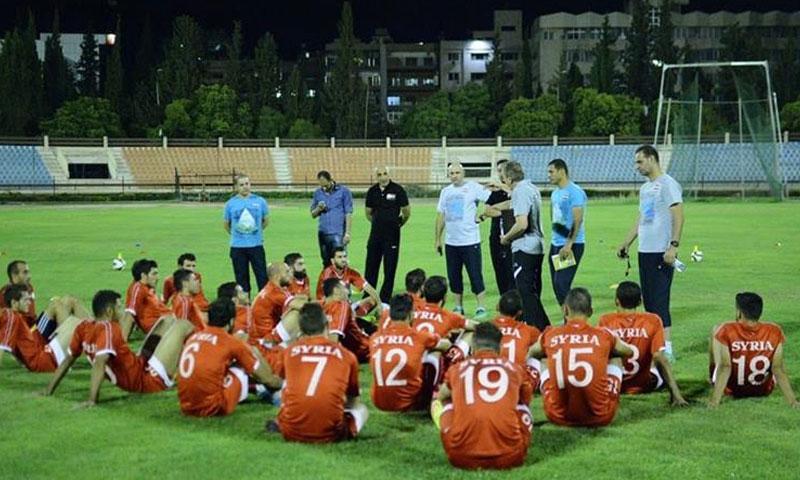 منتخب سوريا لكرة القدم في معكسره الداخلي بدمشق (كورة)