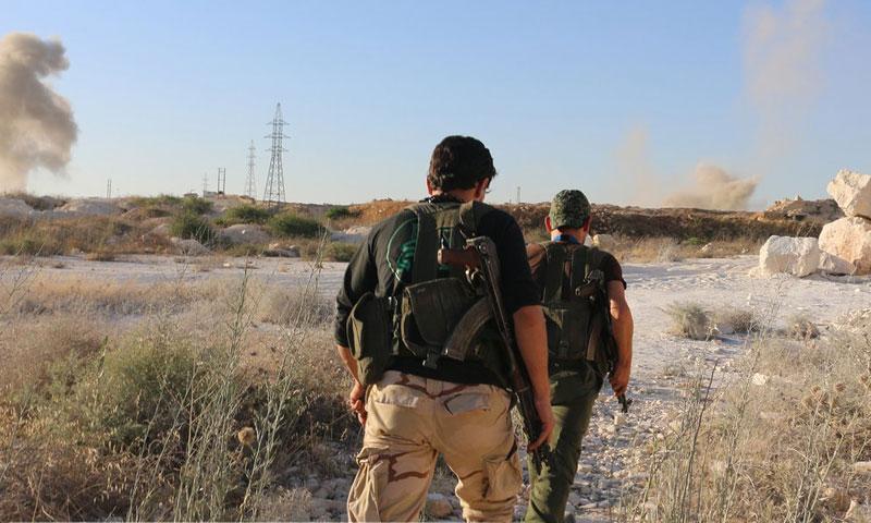 """عناصر من حركة """"نور الدين زنكي"""" في ريف حلب الشمالي- الأربعاء 13 تموز"""