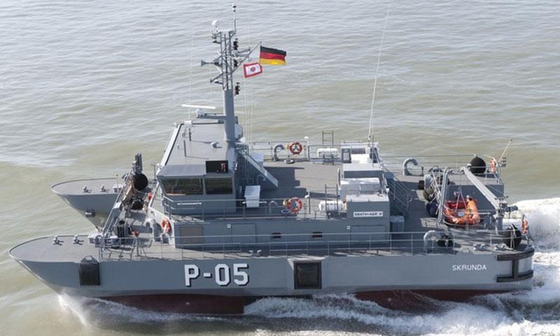 """سفينة دورية ألمانية من طراز """"Skrunda"""" (روسيا اليوم)"""