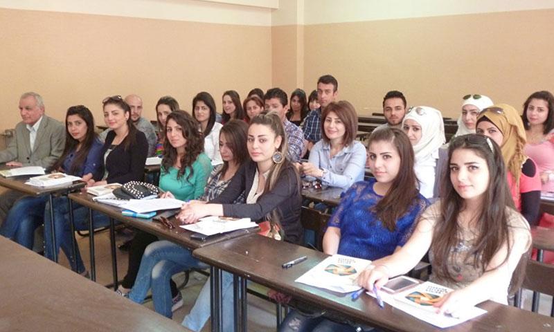طلاب في إحدى الجامعات السورية (سبوتنك)