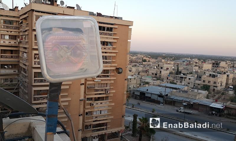 لاقط إشارات اتصالات مصنع محليًا في الغوطة الشرقية (عنب بلدي)