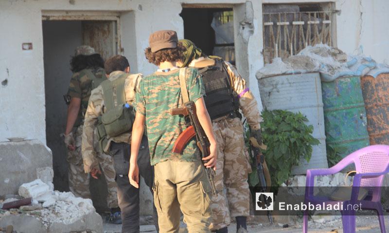 عناصر من المعارضة السورية في محيط ناحية كنسبا في جبل الأكراد في ريف اللاذقية- الأحد 10 تموز (عنب بلدي)
