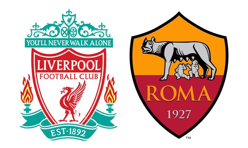 شعارا ناديي روما الإيطالي وليفربول الإنكليزي (إنترنت)