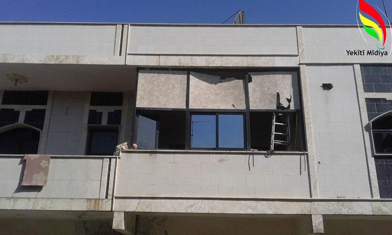 """أضرار مادية لحقت بمكتب الحزب """"الديمقراطي الكوردستاني- سوريا"""" في """"كركي لكي""""- الأحد 31 تموز (يكيتي ميديا)"""