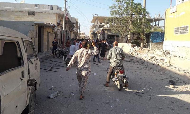 دمار وضحايا مدنيون جراء غارات على بلدة سرمدا- الخميس 21 تموز (ناشطون)