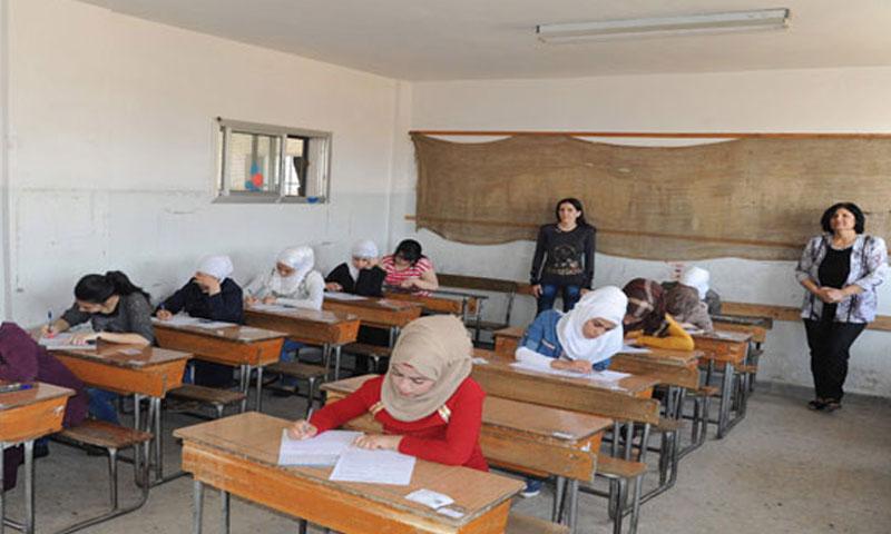 من امتحانات طلاب الشهادة الثانوية- 2حزيران (سانا)