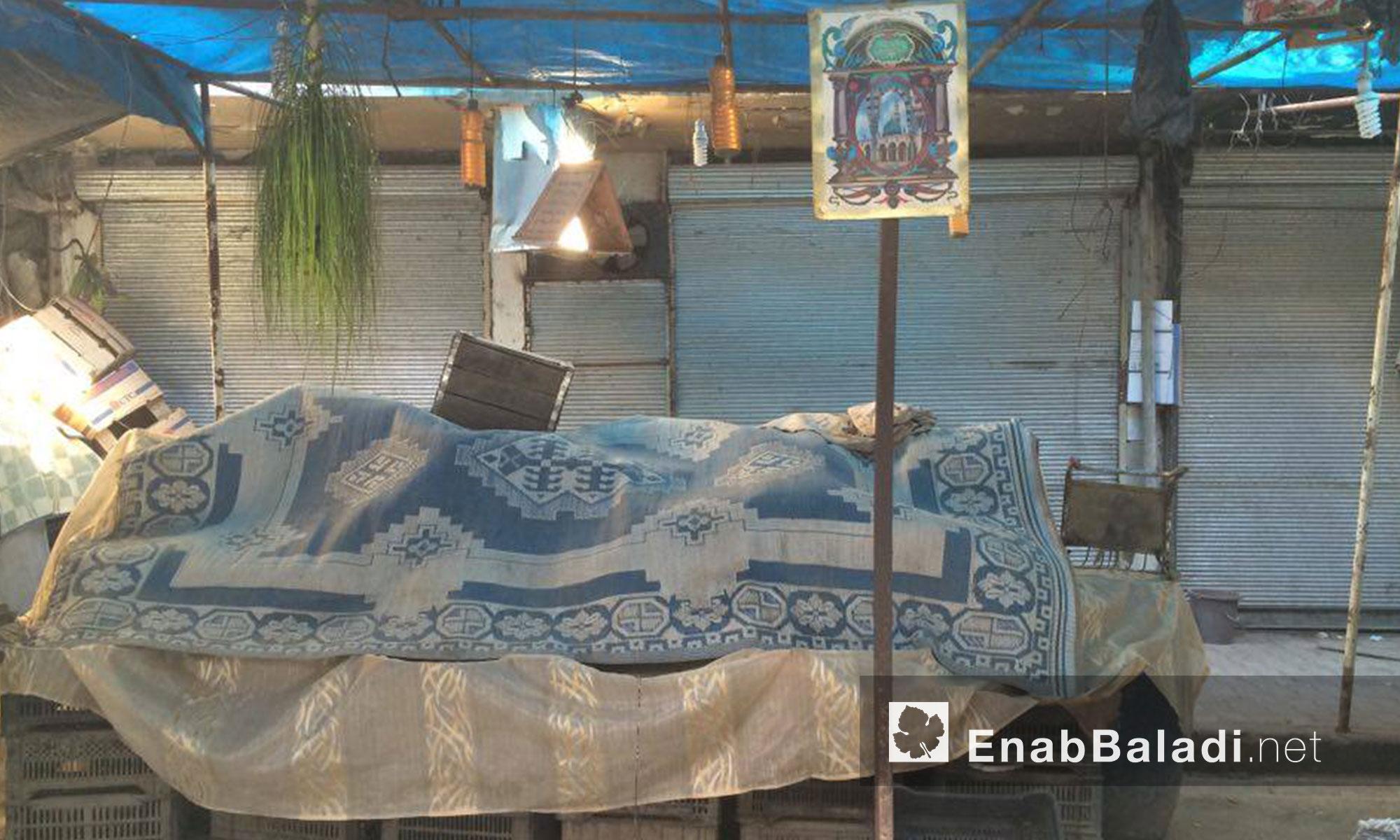 وهذا ما رصدته كاميرا عنب بلدي في حي الشعار اليوم الاثنين 11 تموز