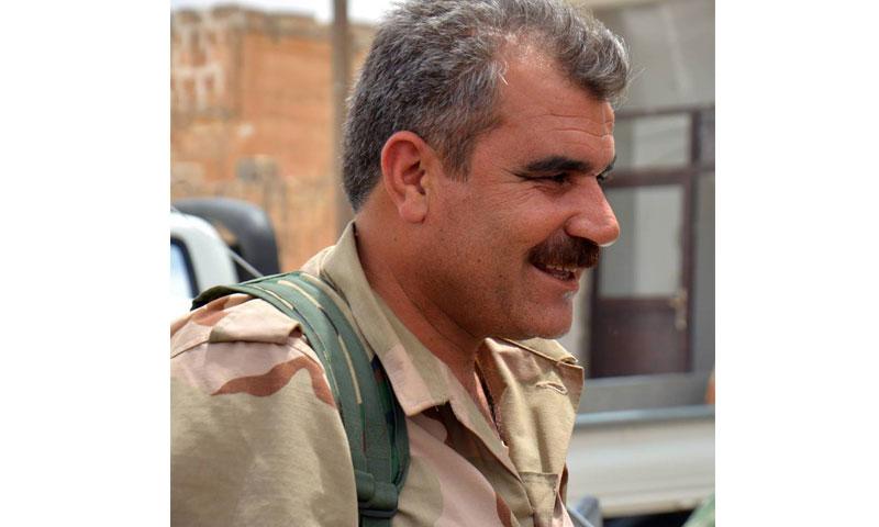 """شرفان درويش- الناطق باسم """"المجلس العسكري في منبج"""" (فيس بوك)"""