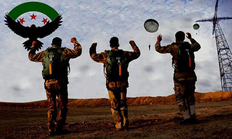 """جنود من """"جيش سوريا الجديد"""" في بادية البوكمال شرق دير الزور- حزيران 2016 (إنترنت)"""