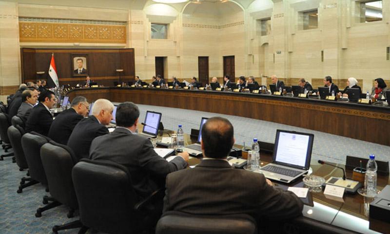 اجتماع لمجلس وزراء النظام السوري (أرشيفية)