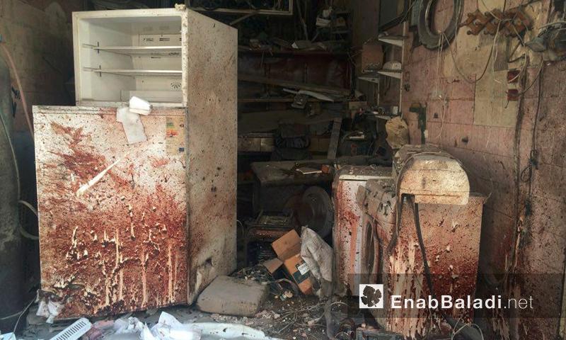 آثار القصف على حي المشهد في حلب - 21 تموز 2016 (أرشيف عنب بلدي)