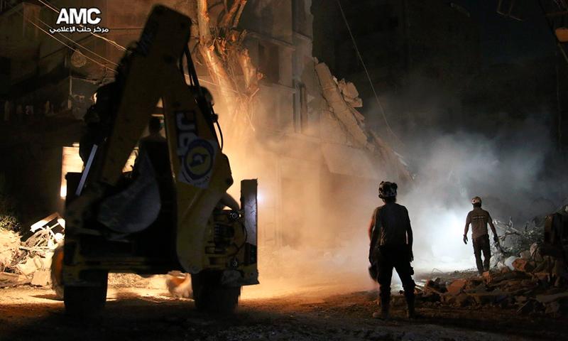 القصف على حي القاطرجي في حلب - الأربعاء 17 آب (مركز حلب الإعلامي)