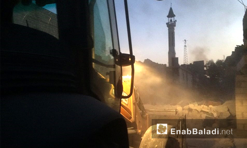 آثار القصف على حي الهلك في حلب - 22 حزيران 2016 (أرشيف عنب بلدي)