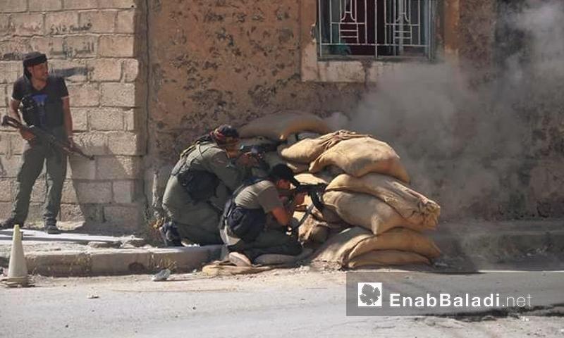 """قوات """"أسايش"""" قرب حي تل حجر في الحسكة - الخميس 18 آب (عنب بلدي)"""