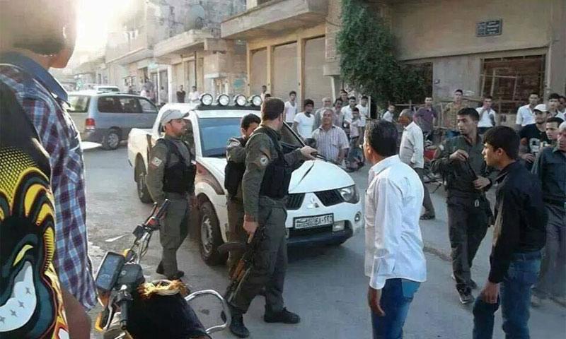 قوات الأسايش في القامشلي - 12 آب (فيس بوك)