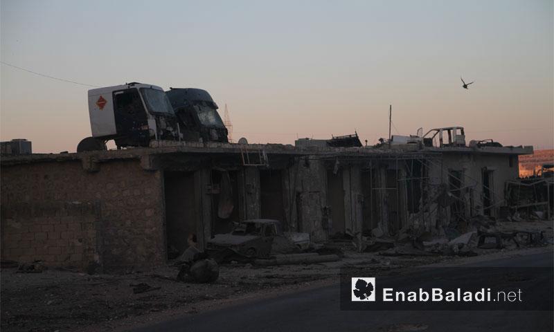 أسواق مدمرة في ريف حلب الغربي 5 آب 2016( - عنب بلدي