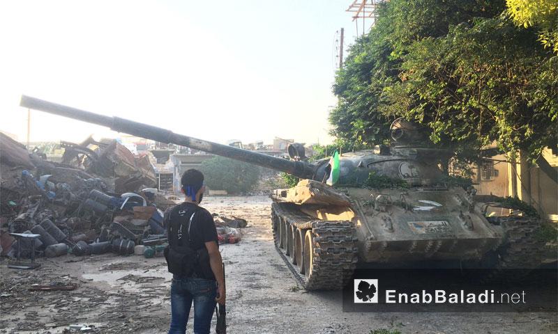 """دبابة تابعة للـ """"الجيش الحر"""" في حي الراموسة بحلب - 5 آب 2016"""