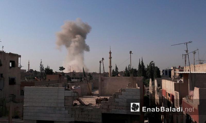 آثار القصف على مدينة دوما بالغوطة الشرقية - الاثنين 22 آب (عنب بلدي)