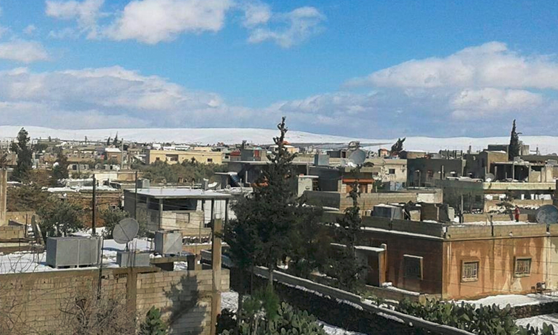 بلدة غباغب شمال درعا - 2015 (إنترنت)