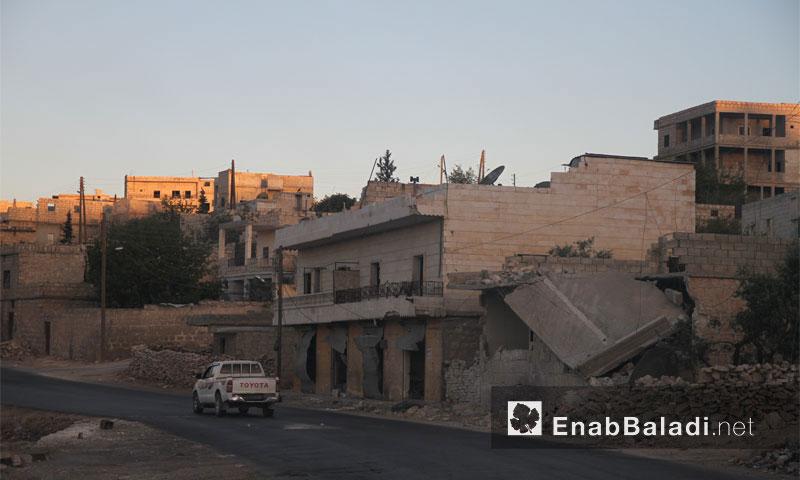 الدمار في ريف حلب الغربي جراء الغارات الروسية- 1 آب (عنب بلدي)