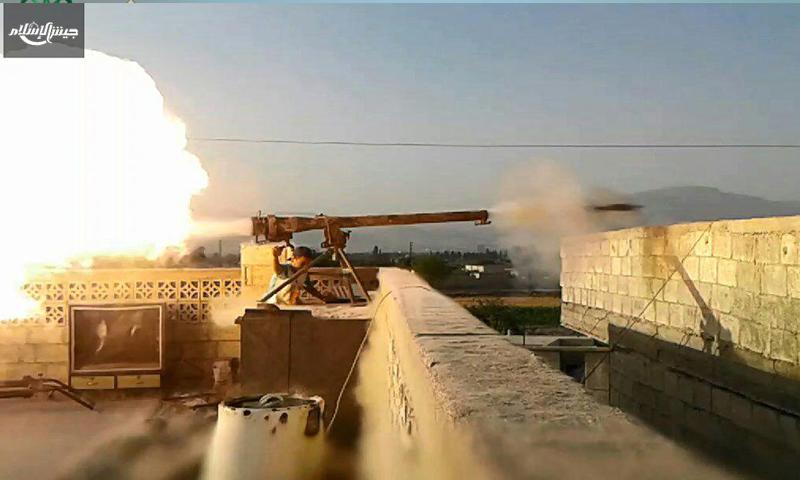 المعارك قرب حوش الفارة - السبت 6 آب (جيش الإسلام)