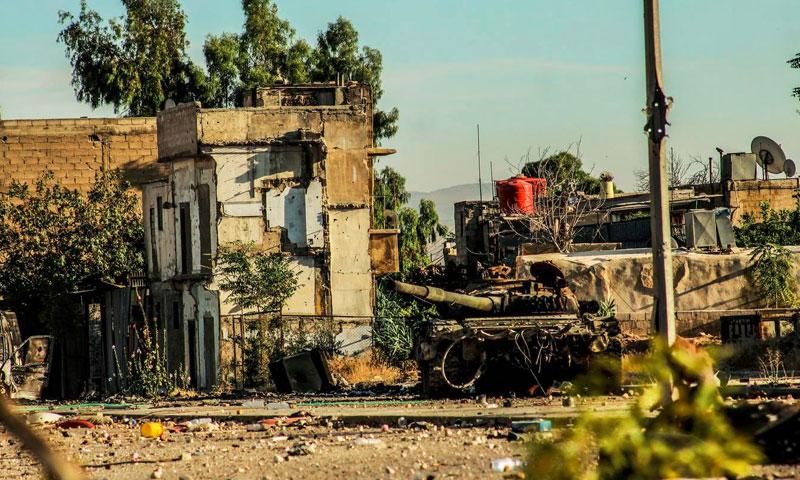 جبهة المحلق الوسطي قرب حي جوبر (أرشيفية من الإنترنت)