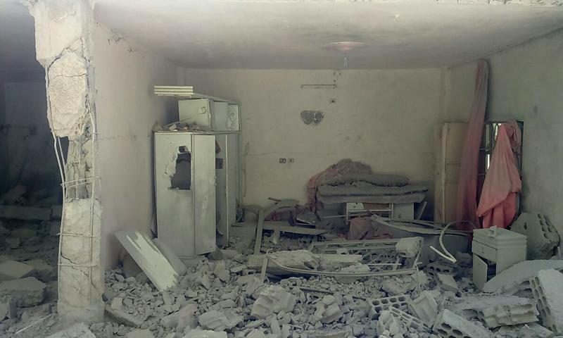 آثار القصف على بلدة خان الشيح - الاثنين 8 آب (خان الشيح الحدث)