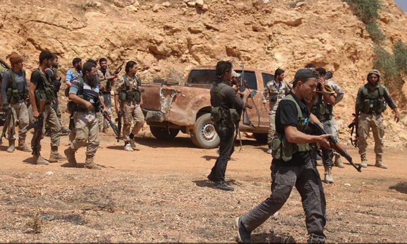 مقاتلو المعارضة داخل القراصي جنوب حلب - الخميس 18 آب (جيش الإسلام)