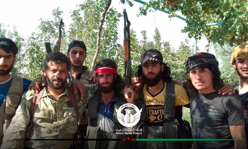 مقاتلو المعارضة داخل بلدة الراعي - الثلاثاء 16 آب (فرقة السلطان مراد)