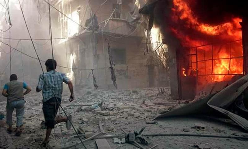 آثار القصف على حي السكري بحلب - الاثنين 22 آب (ناشطون)