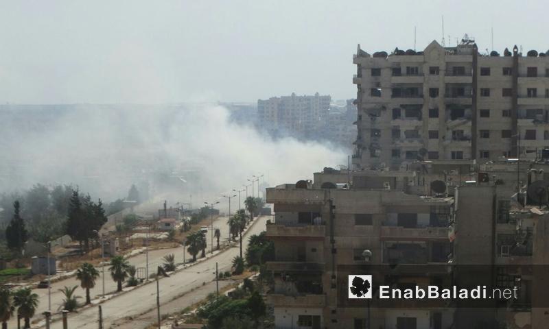 آثار القصف على حي الوعر في حمص - الأحد 21 آب (عنب بلدي)