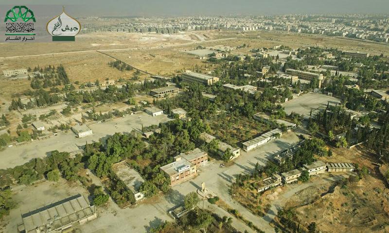 صور جوية لاتصال منطقة الراموسة بأحياء مدينة حلب - السبت 6 آب (أحرار الشام الإسلامية)