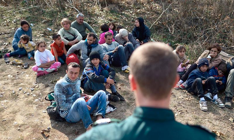تعبيرية: شرطة الحدود البلغارية (إنرنت)