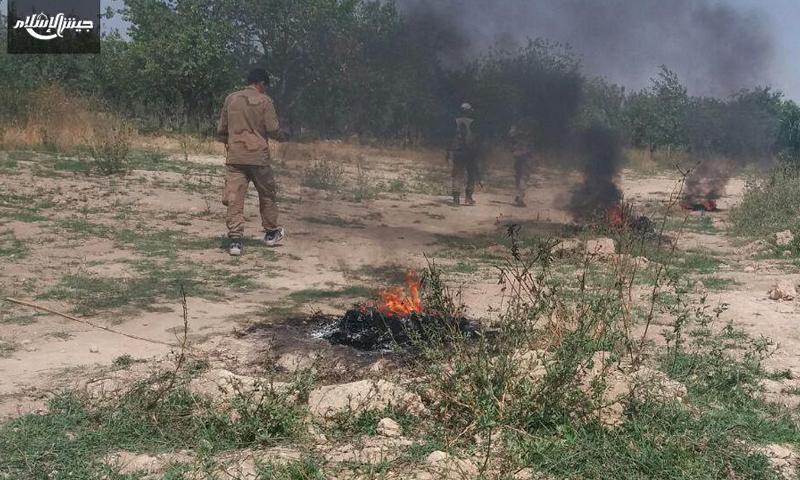 """مقاتلون ضمن عملية """"ذات الرقاع"""" في الغوطة الشرقية (جيش الإسلام)"""