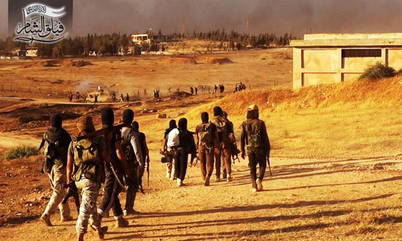 """عناصر من """"فيلق الشام"""" جنوب حلب- الخميس 4 آب (تويتر)"""
