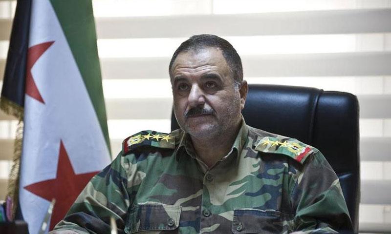 """العميد الركن أحمد بري- رئيس أركان """"الجيش الحر"""" (الأناضول)"""