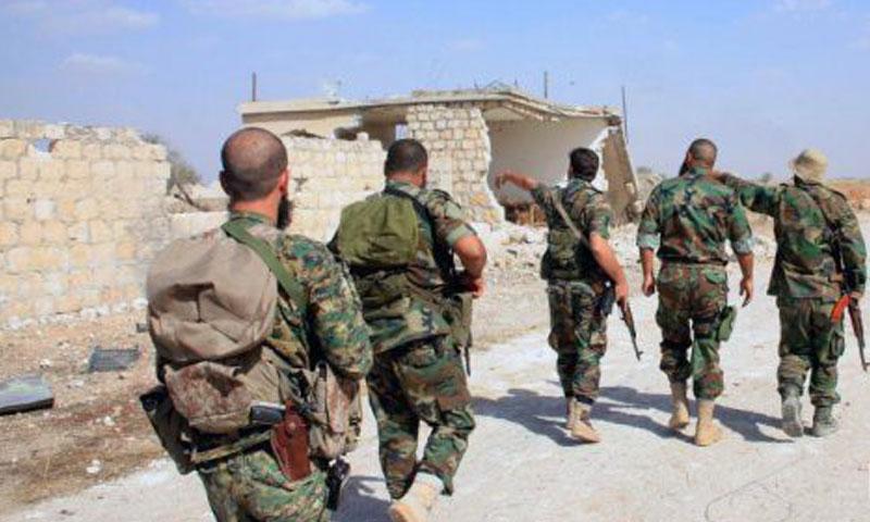 عناصر من قوات الأسد في ريف حماة (أرشيفية)