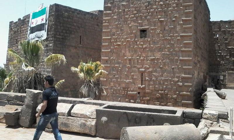 جانب من مدينة بصرى الشام الأثرية (فيس بوك)