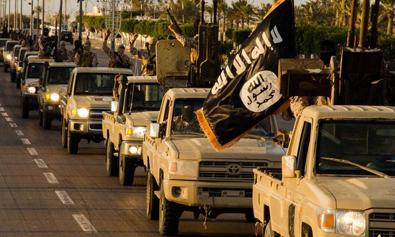 """رتل لتنظيم """"الدولة الإسلامية"""" في مدينة سرت الليبية (أرشيف)"""