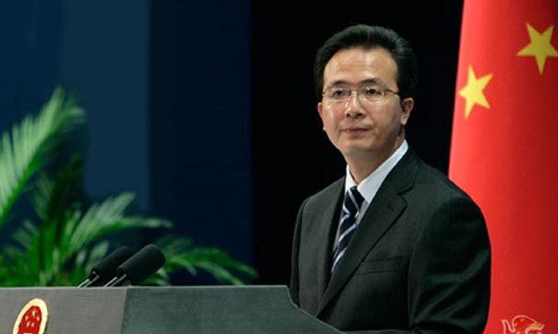المتحدث باسم الخارجية الصينية هونج لي (وكالات)
