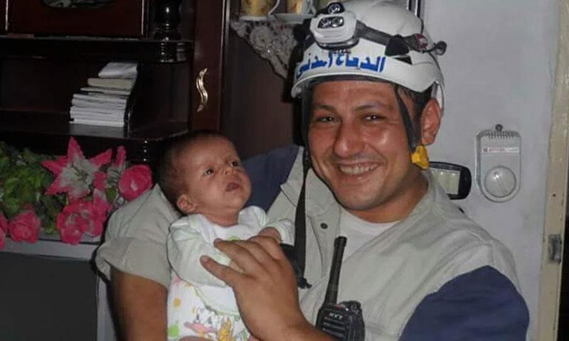 الشهيد خالد حرح- من مؤسسة الدفاع المدني في حلب (فيس بوك)