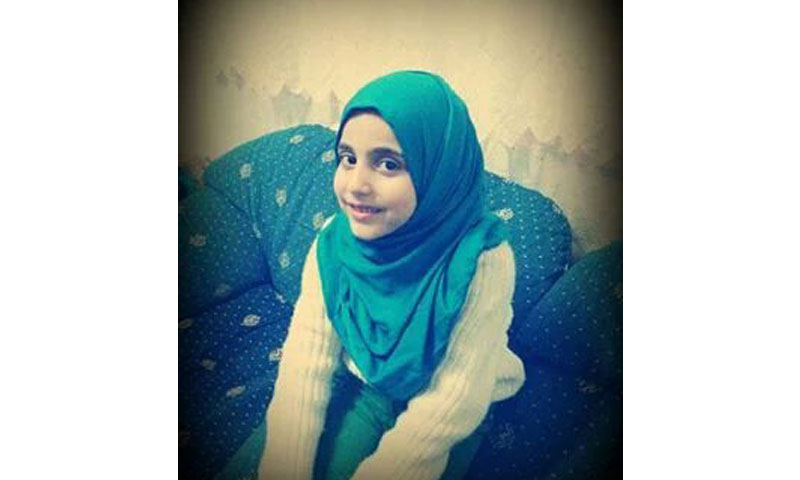 الطفلة فاطمة دياب (تويتر)