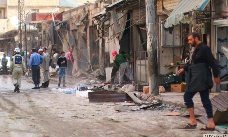 أرشيفية لقصف في مدينة الباب بريف حلب (إنترنت)