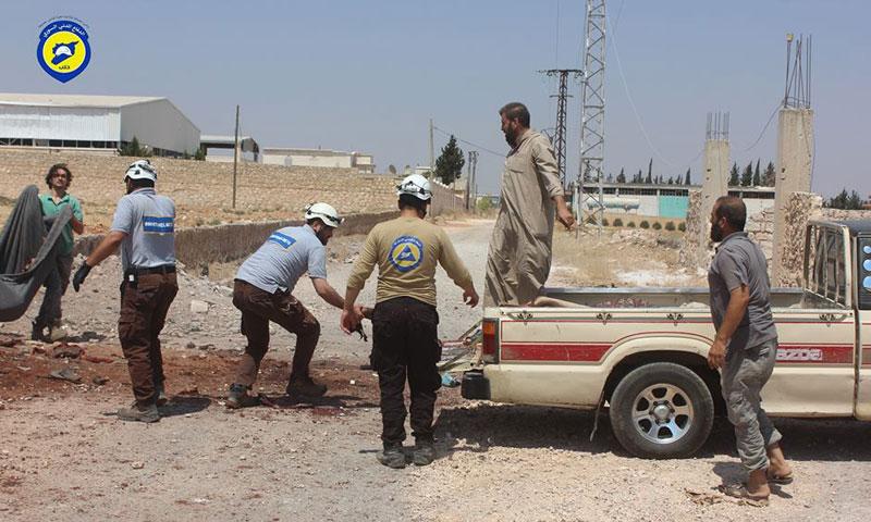 انتشال جثث مجزرة بلدة حيان في ريف حلب الشمالي- الجمعة 12 آب (الدفاع المدني)