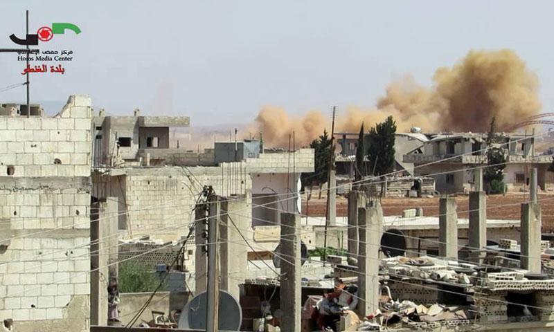 غارات جوية على بلدة الغنطو- الجمعة 19 آب (فيس بوك)