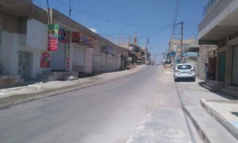 """إضراب في الجيزة حدادًا على ثلاثة من أبنائها قتلهم فصيل في """"الجيش الحر""""- الخميس 4 آب (ناشطون)"""